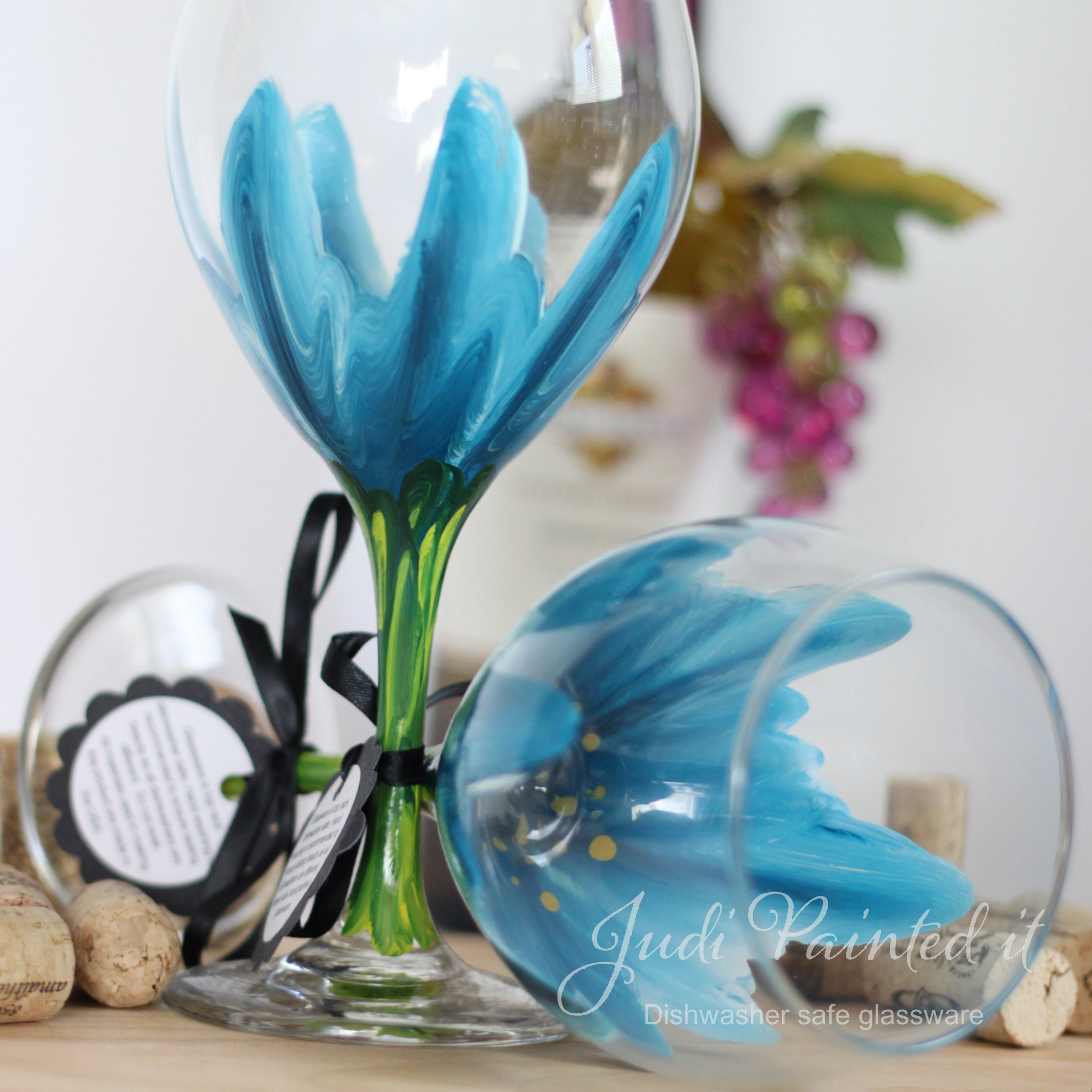 hand painted wine glass ideas - Wine Glass Design Ideas